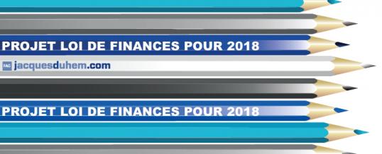 PROJET DE LOI DE FINANCES RECTIFICATIVE POUR 2017: Encore des nouveautés…
